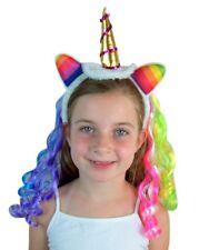 Rainbow Hair Unicorn Headband for Girls, One Size Fits Most