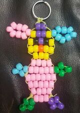 Easter Bunny Key Chain Pony Bead Handbag Luggage Tag 4.5 in × 3.5 in New