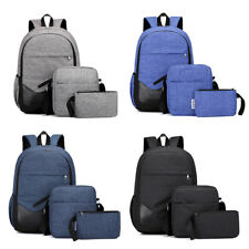 "3PCS 15.6"" Men Women Backpack Shoulder School Bag Laptop Travel Rucksack Satchel"