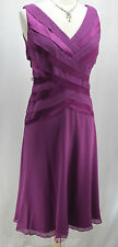 TADASHI SHOJI NEW Silk Chiffon Satin pleated Sleeveless Cocktail Dress SZ 8 Sexy