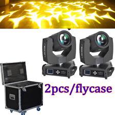 2Pcs 7R 230w Beam Dmx 512 Stage Moving Head Light Zoom Party Light+Flight Case