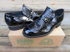 Pre-Owned Mason Slip-on Loafer Dress Shoes Black Size 10 D