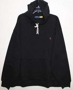 Polo Ralph Lauren Big & Tall Mens Black Hoodie Sweat Jacket NWT $125 Size 3XB