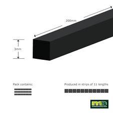 Modelscenery mse303 3 X (hace 33 X 200mm) 3.0 mm Plástico Cuadrado modelización forma