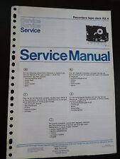 Original Service Manual  Philips Recorders Tape Deck RX-4