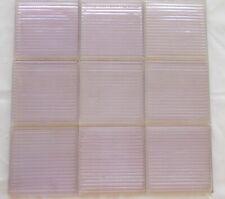 Antique Prism Transom Glass Tiles Sun-Colored Amethyst (Purple) 9 pcs