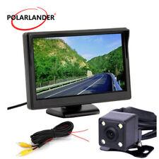 Desktop Car Backup Camera Digital 5 Inch TFT-LCD Screen Rear View Mirror Monitor