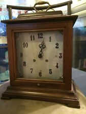 FRANZ HERMLE 72 130-020 MANTLE CARRIAGE 2 JEWELED CLOCK- For Parts/Repair