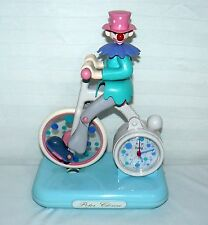 """KIRCH & CO. DUCK HOUSE PETER CLOWN ANIMATED TIME ALARM CLOCK 10"""" X 8"""""""