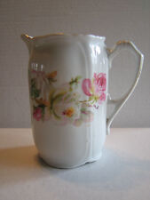 Beautiful Antique German China Pitcher with Roses