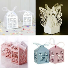 10 Wedding Christening Baby Shower Party Gift Favour Bomboniere Box Ribbon Table