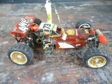 Vintage Tamiya 1980's Hot Shot 1/10 4x4 RC Buggy Car as-is Roller Chassis broken
