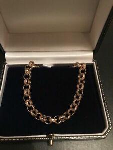 Mens Boys Kids Women's 18K Gold filled custom length belcher chains & bracelets