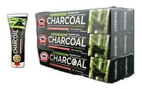 6 Tubes Bamboo Charcoal Black Toothpaste Natural Teeth Whitening Oral Care