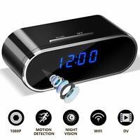 1080P WiFi Camera Clock Wireless Night Vision Security Nanny SpyCam HD Camcorder
