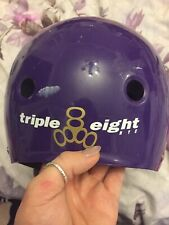Purple Triple Eight Roller Derby Helmet