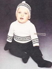BABY FAIR ISLE SET / 3 to 12 months - 4ply - COPY baby knitting pattern