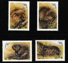 WWF Beavers set of 4 mnh stamps 1995 Belarus #117-20