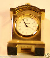 Miniature Novelty Carriage Quartz Clock Empress Gold plated