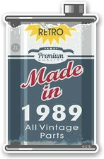 Aged Metal Tin Oil Can MADE IN 1989 Retro Novelty Ratlook Motorcycle car sticker