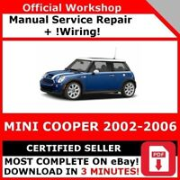 # FACTORY WORKSHOP SERVICE REPAIR MANUAL MINI COOPER 2002-2006 +WIRING