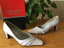 Pierre Cardin lilac suede leather court shoes UK 4 EU 37 RRP £54.99 Bridal