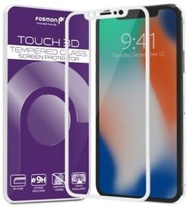 [FULL COVERAGE] Screen Protector Tempered Glass for iPhone 11 Pro XS X [White]