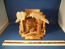 Imported Israeli Olive Wood Christmas Nativity