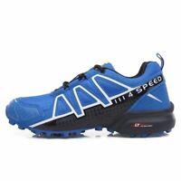 NEW BLUE Men's Hiking Shoes Outdoor Trekking Sneaker Sports Speedcross4 Running