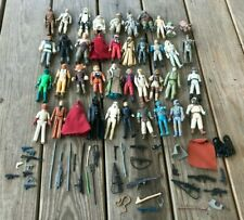 Vtg 1970's-80's Star Wars Action Figures Collection Weapons And Accessories Lot
