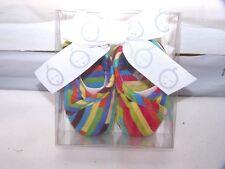 New Iota Kimono Baby Booties Shoes Multi Color Stripe Baby Steps