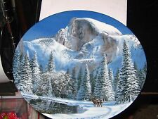"New 1990 Bradford Exchange ""Blue Snow At Half Dome"" Collector Plate By Jean Sias"