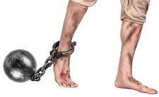 Sträfling Fußfessel 17 cm NEU - Zubehör Accessoire Karneval Fasching