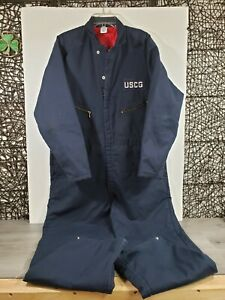 US Coast Guard USCG Winter COLD WEATHER Insulated Full Coveralls SIZE LARGE