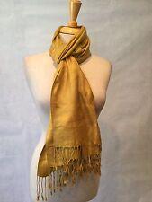 Pashmina - Women's Scarf - Golden Scarf With Fringe - NWOT