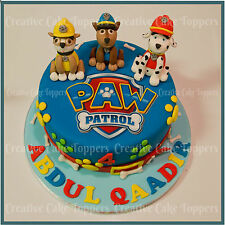 NONE PERSONALISED PAW PATROL LOGO BADGE EDIBLE ICING SHEET BIRTHDAY CAKE TOPPERS