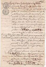 * 1836 ITALIAN STATES M/S DOCUMENT - ITALY - 2 CACHETS CARTA GRADUALE - FIRENZE