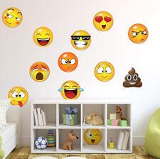 "6"" Large Emoji Faces Wall Sticker Fun Decal Kids Room Nursery Decor Non-toxic"