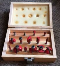 Pit Bull CHIFRB15 1/4-Inch Router Rounter Bits Bit Wooden Box Complete 15 Pc Set