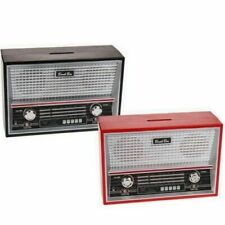 Retro Radio Money Bank Savings Box - Vintage Style Moneybox - Great Gift