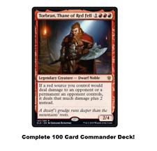 MTG Commander EDH Deck Torbran, Thane of Red Fell 100 Magic Cards Custom Deck