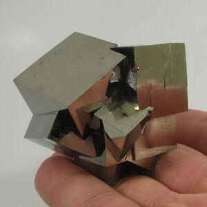 Twin PYRITE CUBE Crystals Cluster - Navajun, Spain