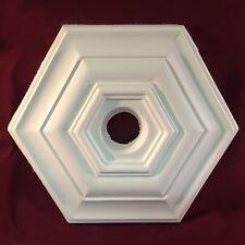 Ceiling Rose Plaster Art Deco Hexagonal Victorian 380mm Handmade