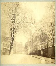 Photo Albuminé Pictorialisme Paris Sous La Neige 1875