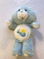 Vintage 80s  Care Bears Baby Tugs  Stuffed Plush Soft Toy Blue