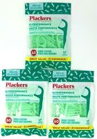 180 counts Plackers Mint Dental Floss Tooth Pick Oral Flossers 3Pack of 60 count
