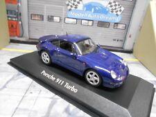 PORSCHE 911 993 Turbo S Coupe 1997 blau b Sonderpreis Maxichamps Minichamps 1:43
