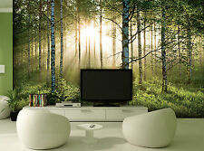 Wall mural photo wallpaper 366x253cm Green summer forest bedroom & living room