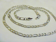 "bling silver plated FASHION figaro 20"" chain hip hop necklace thug PIMP JEWELRY"