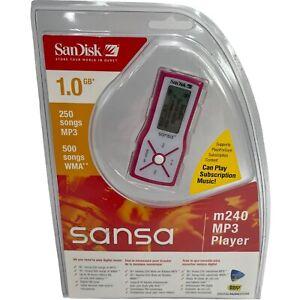 SanDisk Sansa m240 MP3 Player Pink ( 1 GB ) Digital Media New